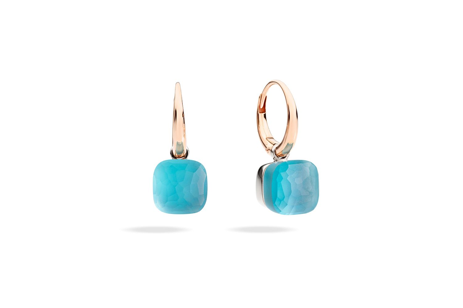 NUDO-GELE-earrings-in-rose-gold-with-blue-topaz-mother-of-pearl-turquoise-by-Pomellato