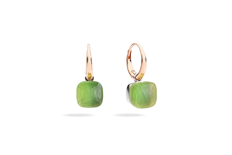 NUDO-GELE-earrings-in-rose-gold-with-lemon-quartz-chrysioprase-by-Pomellato