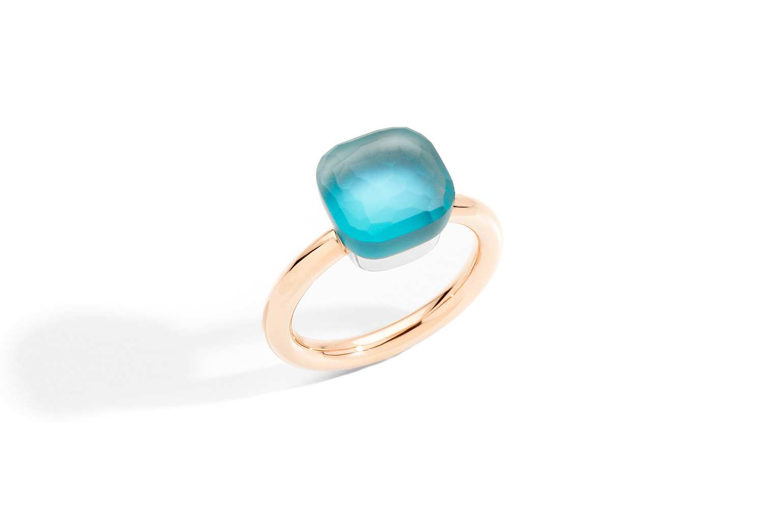 NUDO-GELE-Ring-in-rose-gold-with-blue-topaz-mother-of-pearl-turquoise-by-Pomellato