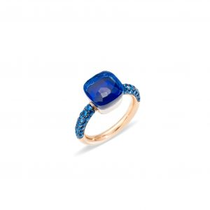 Nudo Deep Blue Ring with London blue topaz & lapis by Pomellato