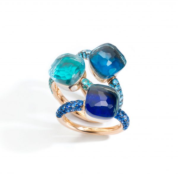 Nudo Deep Blue Rings by Pomellato