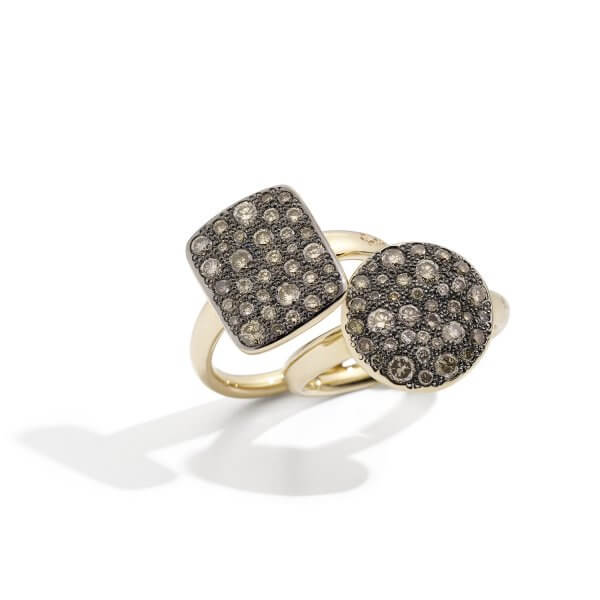 SABBIA rings with brown diamonds by Pomellato_