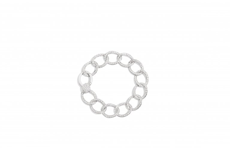 BRERA bracelet in white gold with diamonds by Pomellato