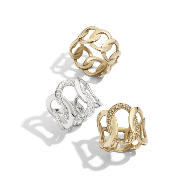 BRERA rings in rose gold, white gold with diamonds by Pomellato (2)