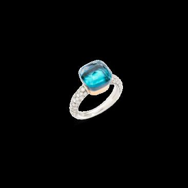 PAC0040_O6WHR_B0YAV_010_nudo-classic-ring-white-gold-18kt-rose-gold-18kt-blue-topaz-agate-diamond
