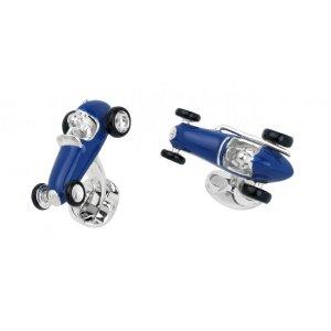 Deakin&Francis manžetové gombíky Závodné auto modré